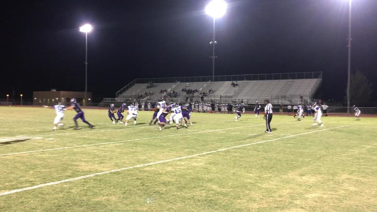 Shadow Hills quarterback Hunter Brooks makes it look easy on a 10-yard touchdown run Thursday that gave the Knights a 14-0 lead over Cathedral City.
