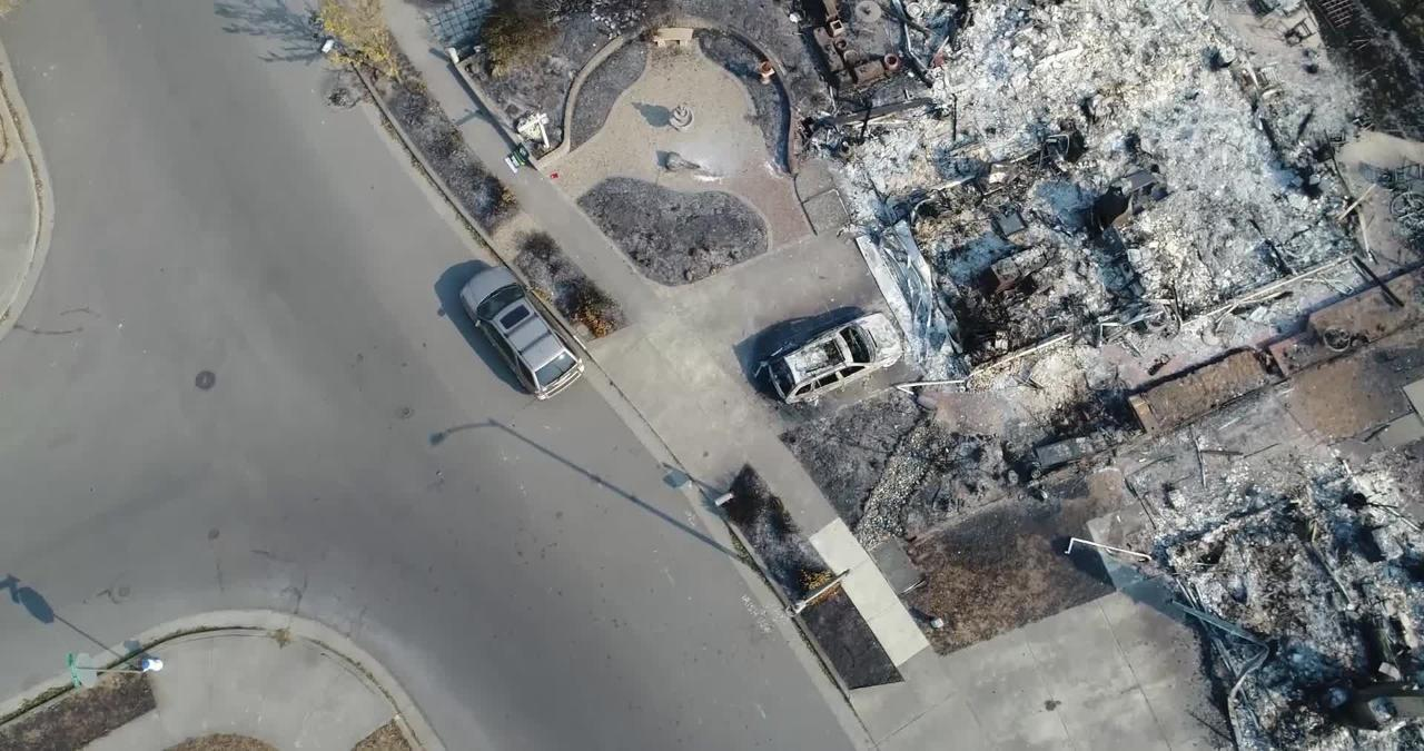 Drone video: Santa Rosa Coffey Park neighborhood destroyed by wildfire