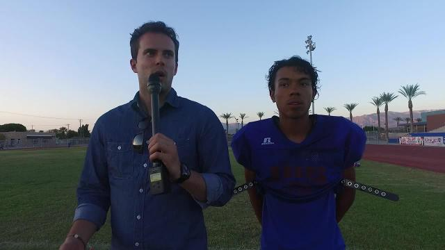 Goal line to goal line interview with Indio football player Raythen Alvarez