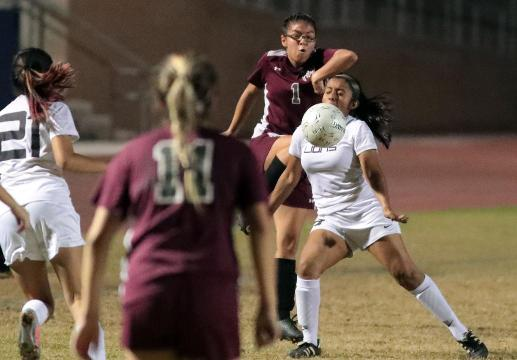 Cathedral City and Rancho Mirage girls soccer scrimmage
