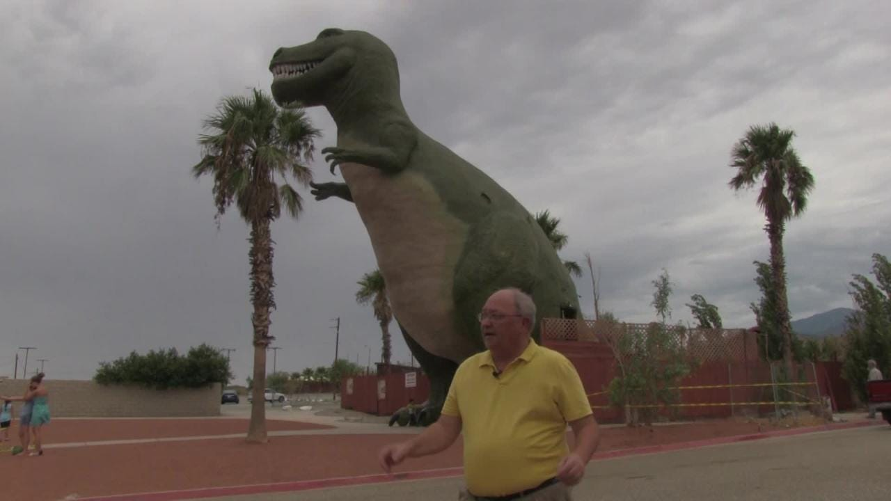 Explore the Cabazon Dinosaurs with Desert Sun sports columnist Larry Bohannan.