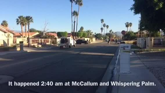 A person died at Whispering Palms Trail and McCallum Way Thursday morning.