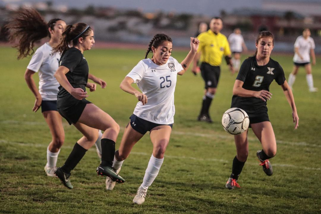 Tatiana Woodworth became La Quinta's all-time leading goal scorer with this penalty kick.