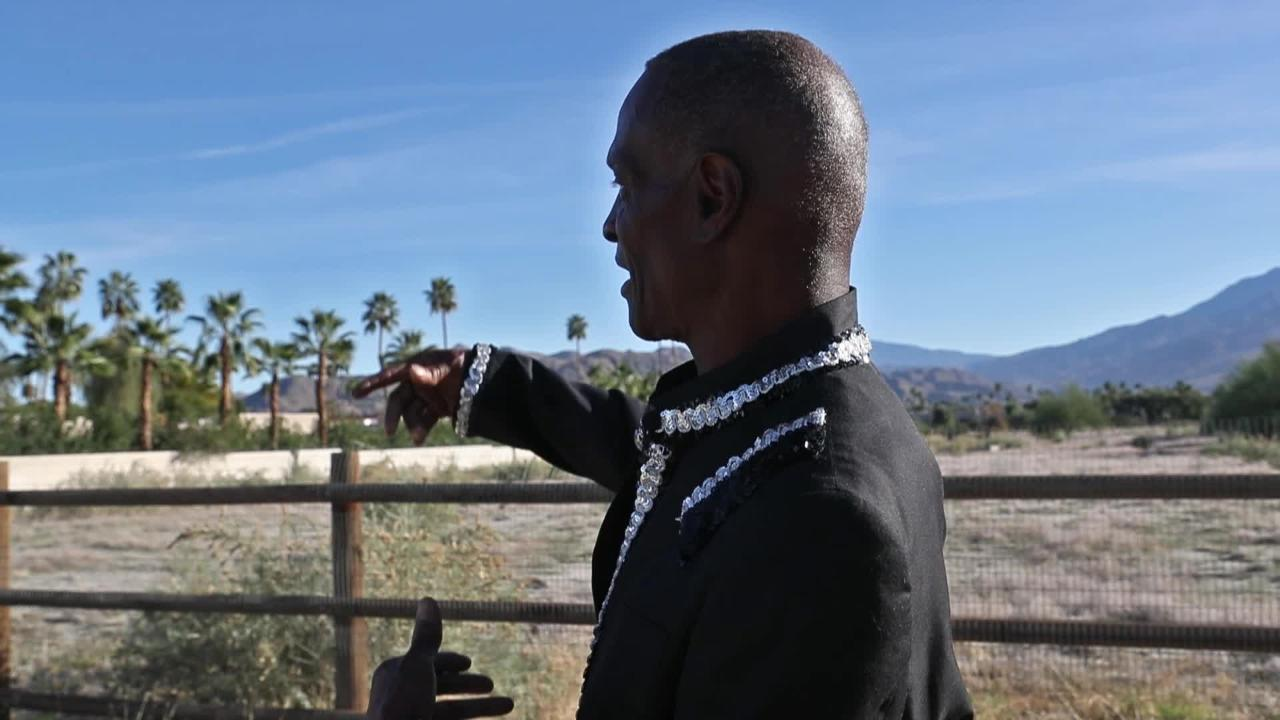 Famous drummer Alvin Taylor was born in Section 14 on the Agua Caliente tribe reservation. His house burned down at this location behind Our Lady of Guadalupe Church in Palm Springs as part of what was called a city-engineered holocaust.
