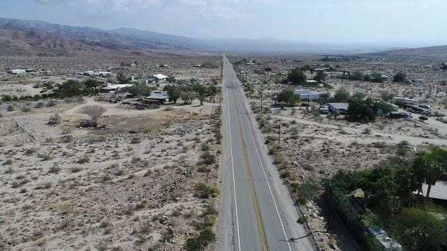 This video shows Dillon Road in Sky Valley and Indio Hills. The area is part of a stretch that residents say is full of speeding vehicles.