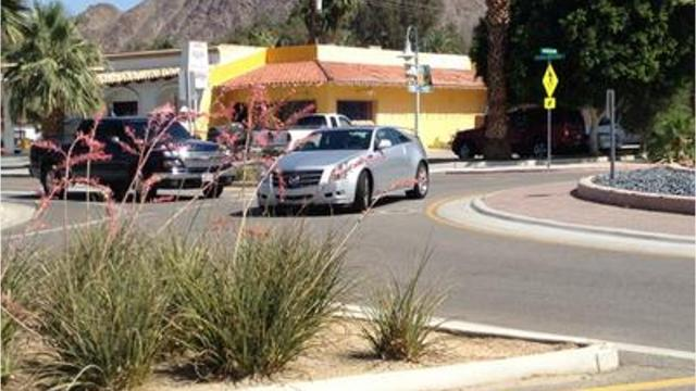 City officials announced a proposed roundabout wasn't feasible at Camino Parocela and Palm Canyon and Indian Canyon drives.