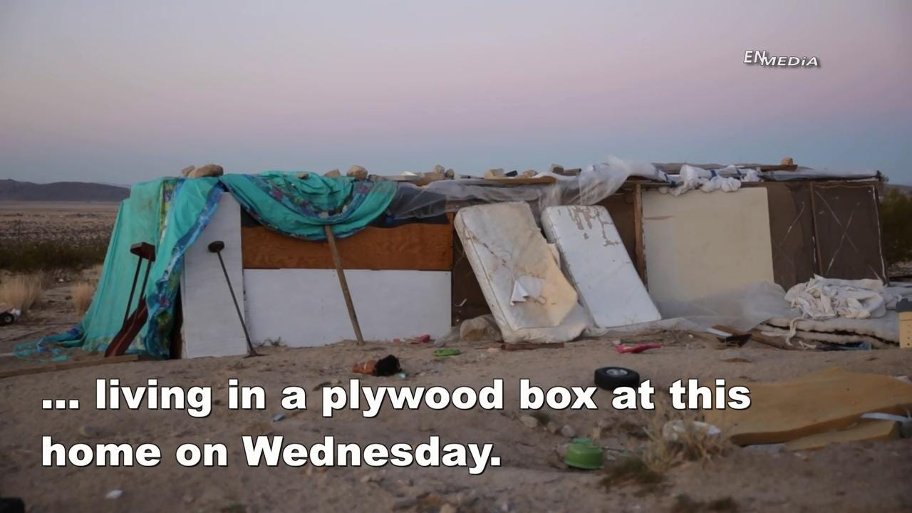 San Bernardino County Sheriff's Deputies arrested a pair of parents this week after finding their three children living in a plywood box, surrounded by trash, cats and feces, with no access to electricity or running water.