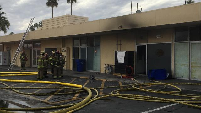 A Palm Springs restaurant is closed indefinitely after a fire erupted in its kitchen Wednesday morning.