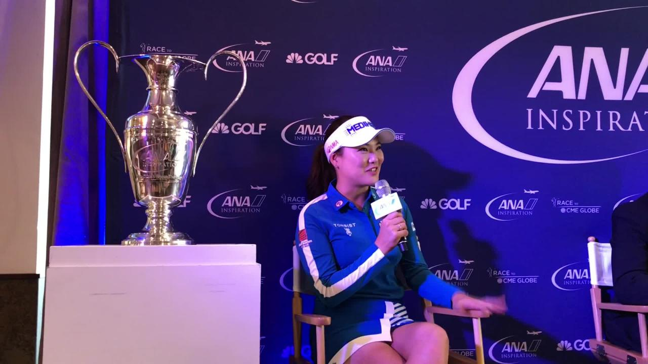 So Yeon Ryu was at Mission Hills Country Club in Rancho Mirage Tuesday talking about her victory in the ANA Inspiration last year