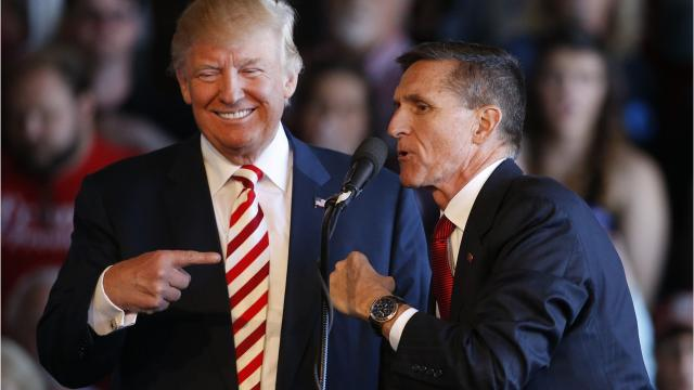 Former national security adviser Michael Flynn turns up in La Quinta to stump for a GOP candidate challenging Los Angeles Democrat Maxine Waters.