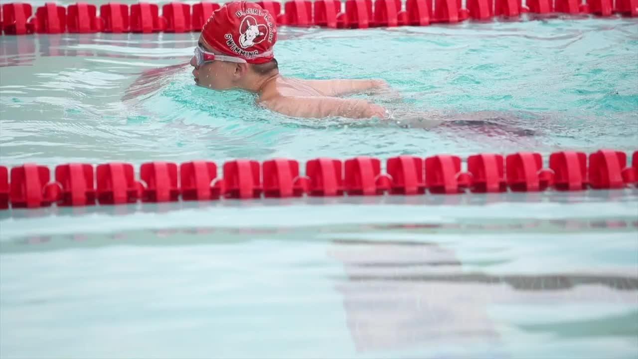 John McAllister, the spirit of a team for Desert Mirage High swim team