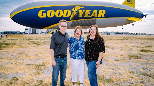 "All her life, Anita Saavedra-Durnil has dreamed of flying in the Goodyear Blimp. That dream finally came true with the help of My Jump, a local nonprofit started eight years ago by Webb Weiman of La Quinta to help seniors fulfill their ""bucket lists."
