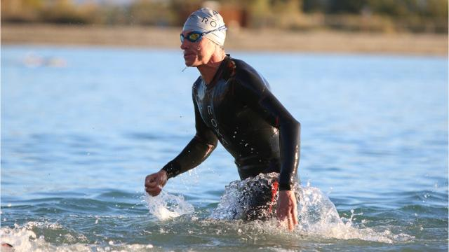 Three thousand people participated in the 70.3 half ironman competition. It began at Lake Cahuilla and ended at the Indian Wells Tennis Garden.