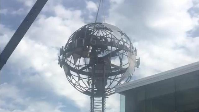 Watch: Advertiser's globe comes down to Earth