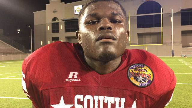 Jeff Davis' Tyler Wesley after North-South football game