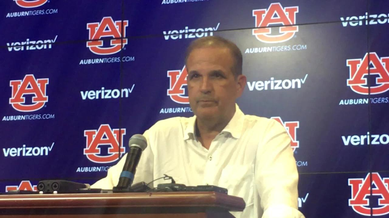Auburn DC Kevin Steele after 2nd day of preseason practice