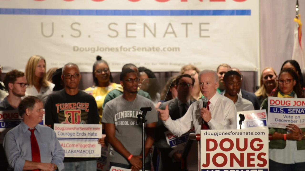 """Do it for Alabama"" Joe Biden says about Doug Jones"