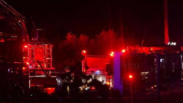A fire at a large vacant building in north Montgomery near the Alabama River took firefighters an hour to extinguish Sunday night.