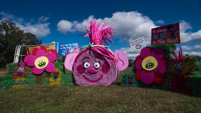Pike Road holds hay bale decorating contest