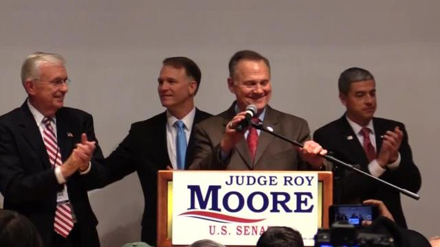 Unedited video of Roy Moore's speech to his supporters after his opponent, Doug Jones, declared victory.