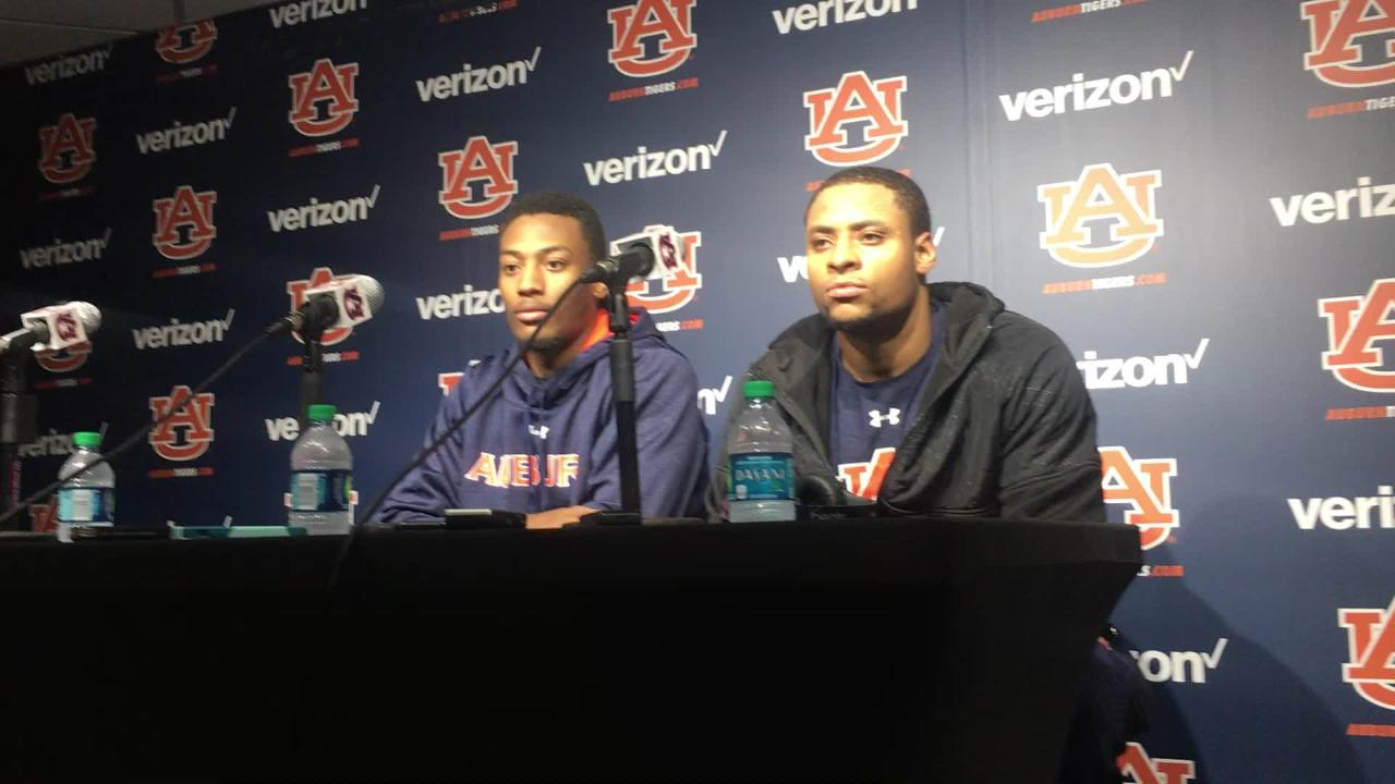 Auburn forwards Desean Murray and Anfernee McLemore after 85-70 win over Ole Miss