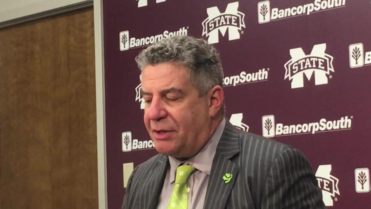 Auburn head coach Bruce Pearl after 76-68 win at Mississippi State.