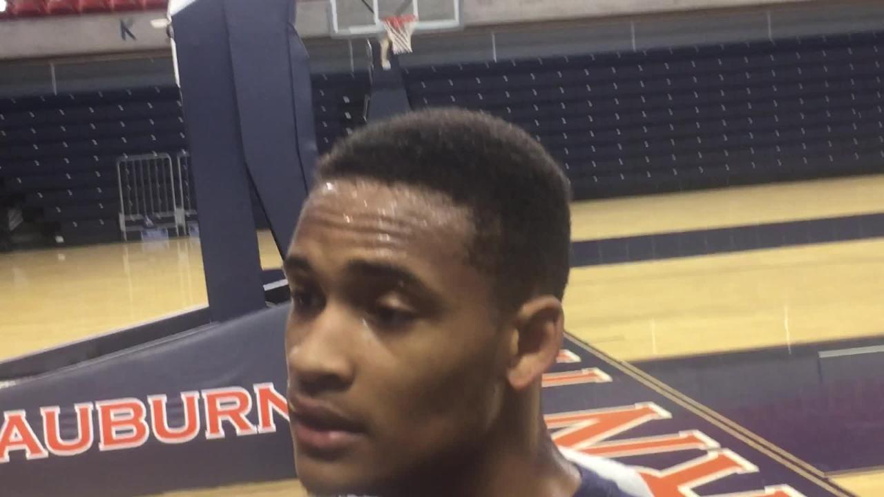 Auburn guard Bryce Brown before practice on Jan. 16, 2018.