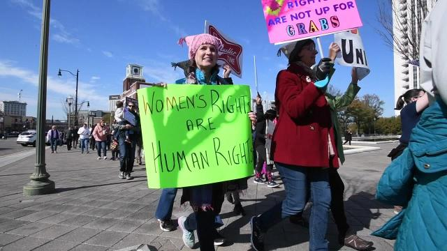 Scenes from the Montgomery Woman's March