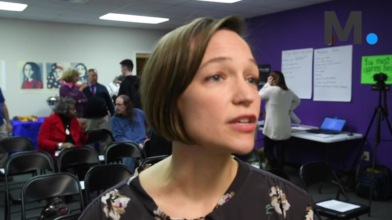 Tabitha Isner, who is running as a Democrat for U.S. Representative District 2, speaks about the campaign during the opening of her campaign headquarters in Montgomery, Ala. on Thursday February 8, 2018.(Mickey Welsh / Montgomery Advertiser)