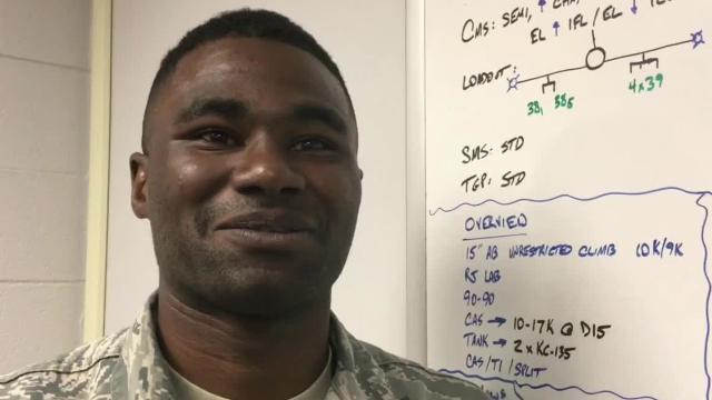 Dorian Sankey, an Airman 1st Class in the U.S. Air Force, is works on the fighter jets at the Alabama Air National Guard. He hopes to one day fly one and is a Red Tail Scholarship Foundation recipient.