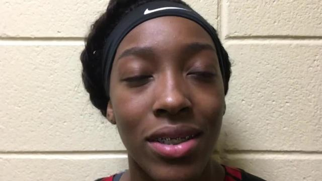 Robert E. Lee's Zaniya Crawford talks about the Generals winning the 7A Central Regional ... and is soon joined by Zipporah Broughton to display their emotions.