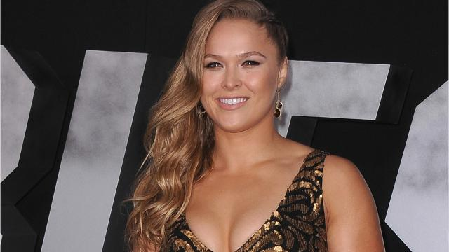 Ronda Rousey Celebrates Signing With WWE