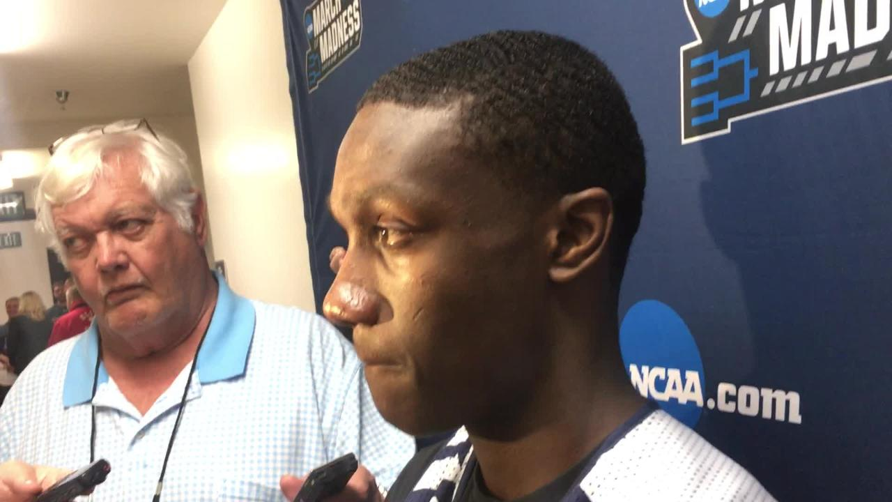 Auburn guard Jared Harper after NCAA Tournament practice session in San Diego.
