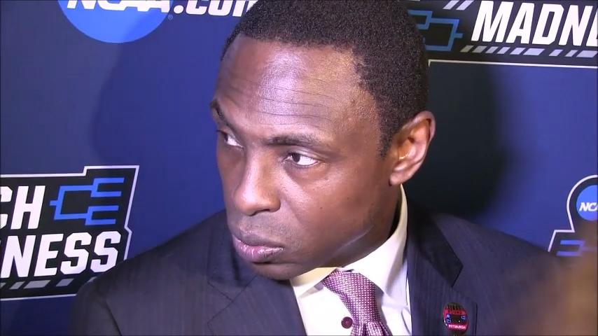 Alabama coach Avery Johnson talks about Thursday's 86-83 win over Virginia Tech in the first round of the NCAA Tournament in Pittsburgh.