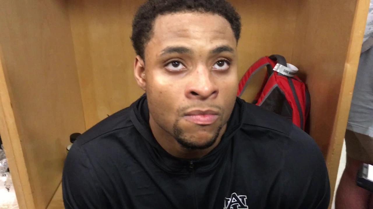 Auburn forward Desean Murray after 62-58 win over Charleston in NCAA Tournament.