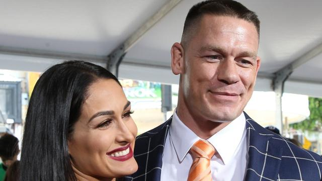 """This weekend, """"Extra"""" spoke with WWE superstar John Cena at the premiere of the new comedy """"Blockers"""" at the SXSW Festival in Austin. Cena was joined by his fiancée Nikki Bella. When asked about the latest details on their upcoming the wedding, John deferred to Nikki, saying, """"She's the boss. I just do as I'm told!"""" Nikki added, """"It's definitely coming up soon."""" Last week, John learned a dance move from Jimmy Fallon on """"The Tonight Show."""" Is he ready to hit the dance floor on his wedding day? John laughed, saying, """"I have some lessons in the future. I learned a little bit on 'The Tonight Show.' I'm told that it was promising, but I've seen the video and I'm not so convinced!"""" """"Blockers"""" is in theaters April 6."""