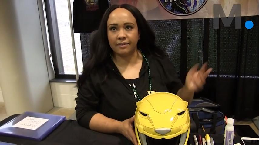 """Karan Ashley, who played the Yellow Ranger on """"Mighty Morphin' Power Rangers,"""" at the first River Region Comic Con brought comic fans, cosplayers and gamers together at the Cramton Bowl Multiplex on Saturday, Saturday, March 17, 2017."""