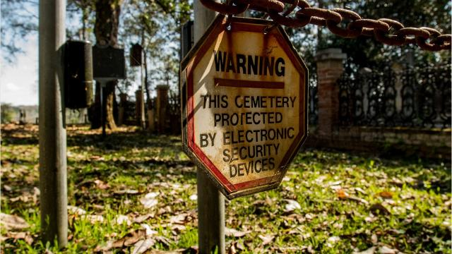 By their very nature, cemeteries are difficult to secure against thefts and vandalism