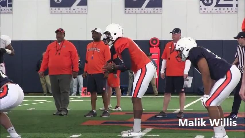 Auburn continues spring practice Thursday evening before high school coaches.