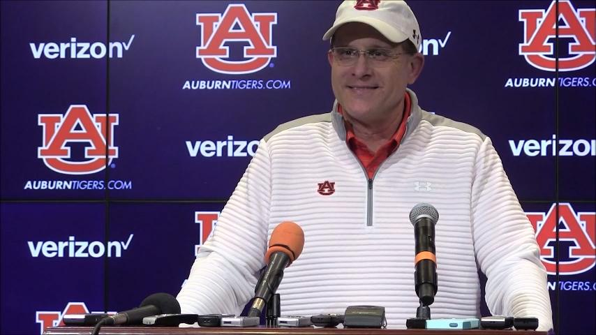 Auburn coach Gus Malzahn talks about becoming a grandfather and more after Thursday's practice.