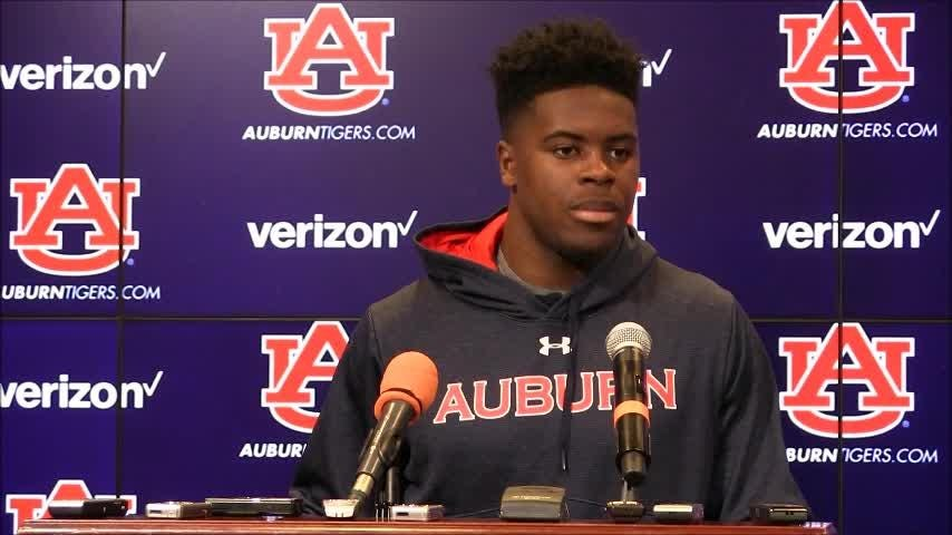 Robert E. Lee graduate Daniel Thomas talked about his opportunity to start at safety in Auburn spring practice.