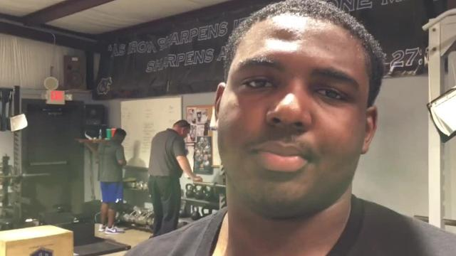 Catholic defensive lineman C.J. Person, after a recent trip to Purdue and Indiana with Kirk Johnson and a planned visit to Wake Forest, Duke, North Carolina and North Carolina State ahead, says Johnson means so much to him.