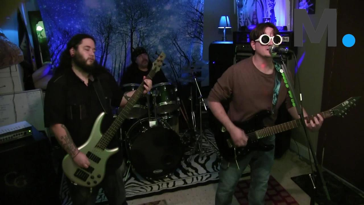 """Eclectic band Under Darkened Skies performs their original song """"Crossing Paths"""""""