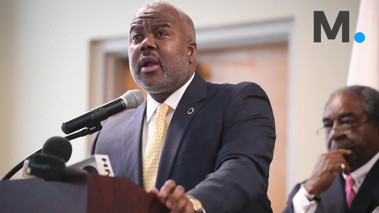Alabama State University President Quinton Ross speaks as the City and County of Montgomery and Alabama State University announce that ASU is joining the Montgomery Internet Exchange at the ASU campus in Montgomery, Ala. on Thursday May 24, 2018.