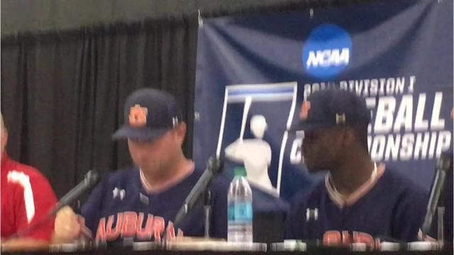 Auburn head coach Butch Thompson and select players discuss Raleigh Regional Championship win over N.C. State.