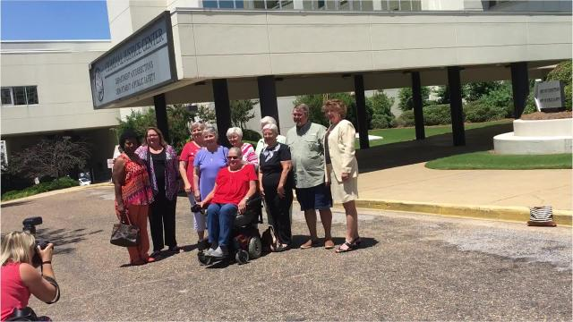 A group of former St. Margaret's employees reunited this week at the site of the former hospital, now a state building.