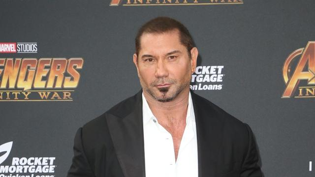 Dave Bautista says he'd like to star in a movie adaptation of video game 'Gears of War'. In a Q&A on Reddit, Bautista says he has been pursuing a'Gears of War' moviefor years. The former WWE star adds he believes an adaptation is in the hands of Universal Studios. A film adaptation of the 'Gears of War' video game series was announced back in 2016.