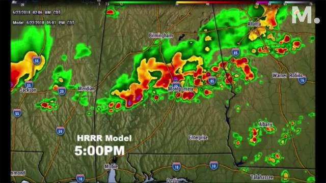 We'll be watching radar carefully today, as a cluster of potent storms slides southward through the state.  Some of the storms could be severe with damaging winds.  On this video, I'll show you Future Radar, to give you an idea on timing and which parts of the state are most at risk.  Plus, I'll walk you through an updated weekend forecast.  Looks like another upper high is on the menu for late weekend and beyond.  Could that mean more triple digit heat indices?