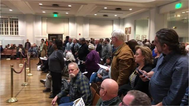 Hundreds come to Montgomery City Council meeting to protest gunfire