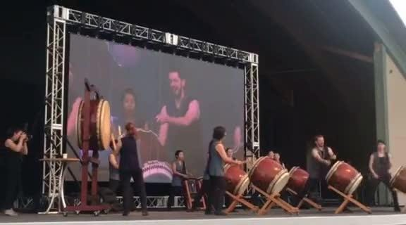 Portland Taiko perform at Oregon State Fairgrounds
